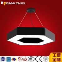 百光照明六边形办公吊线灯 商场办公走廊异型吊线灯48W60W