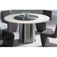 几何美居 现代北欧风格天然大理石可旋转餐厅用餐桌