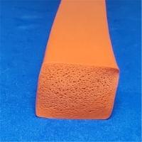 硅胶海彩色密封条 发泡密封条