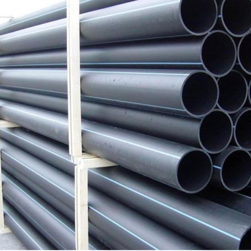 PE给水管 聚乙烯管材 国标全新黑色pe管