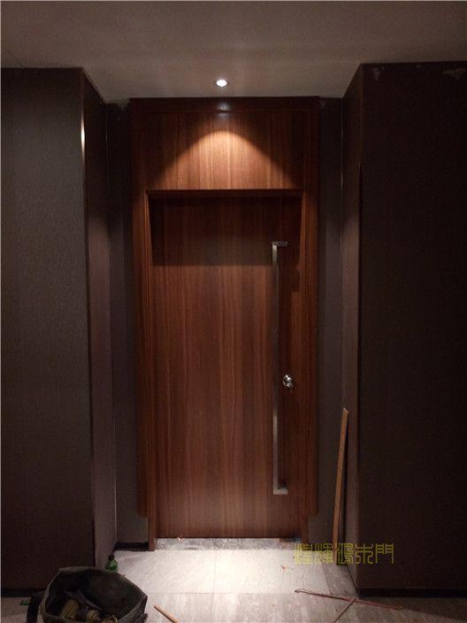 带门头木门|3米高木门|超高木门定制|工程木门定制|公寓木门