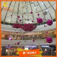 美陳燈飾造型商業活動大型商場中庭吊件空間美陳布置