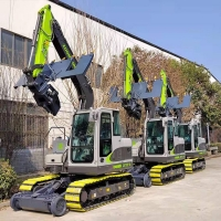 挖掘機換枕機 軌道枕木鋪設裝置