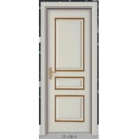 柚木套装门 室内实木复合门 品牌套装门 定制木门