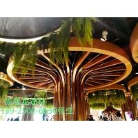 商场吊顶 外墙装饰木纹氟碳铝方通