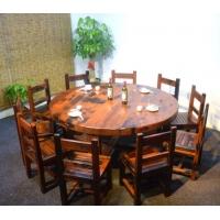老船木餐桌客厅餐桌椅组合