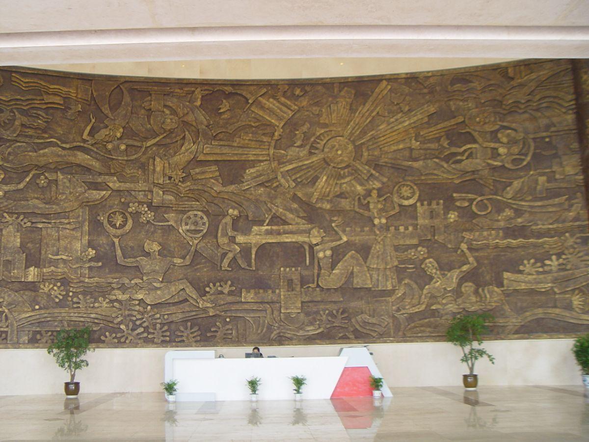 大堂装饰性浮雕壁画/酒店浮雕壁画/贵州betway官网体育彩票设计公司