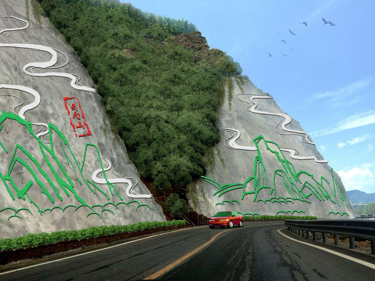 护坡墙壁画设计/大型护坡墙浮雕/贵州护坡墙壁画图片