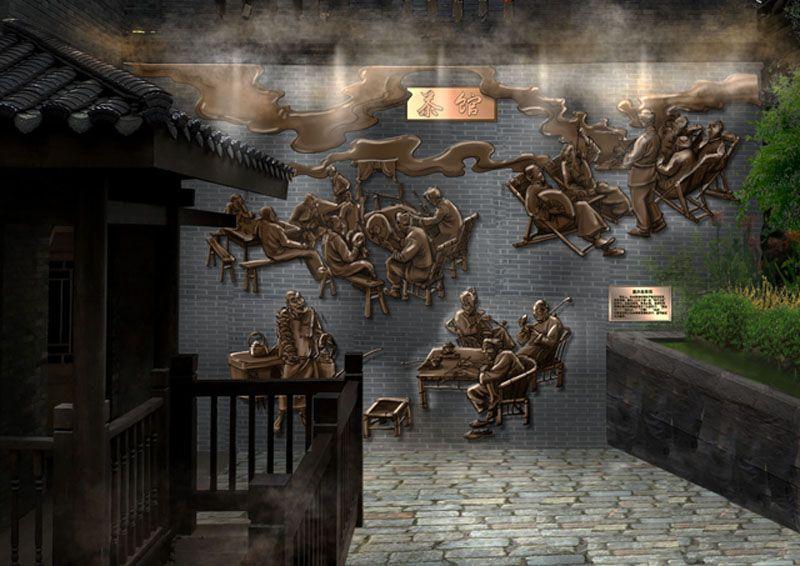 文化墙浮雕/墙面浮雕壁画/景区浮雕壁画设计