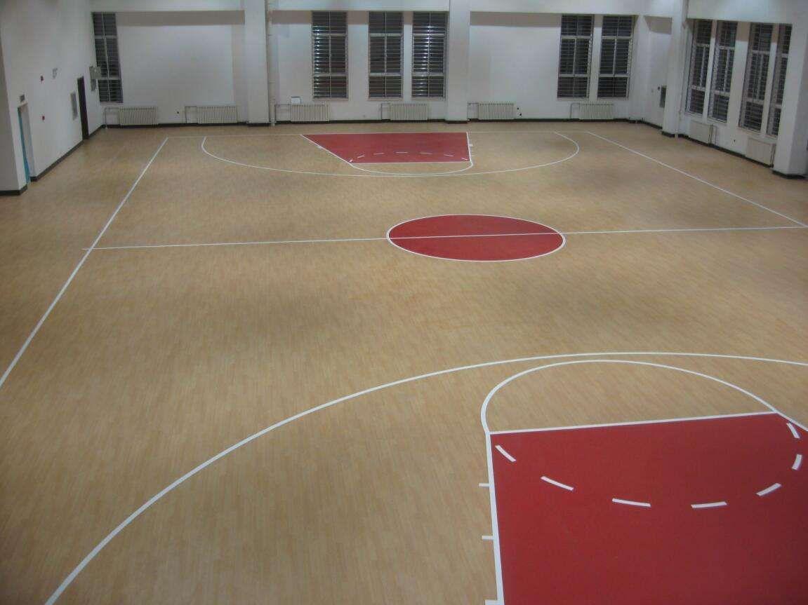 山东PVC篮球场地胶专用塑胶地板