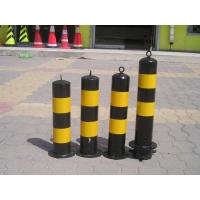 申济直供镀锌喷塑黄黑路桩分道隔离桩可定制
