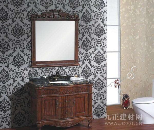 橡胶木浴室柜