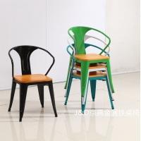 佛山市铁皮椅JD603M餐厅饺子馆椅子
