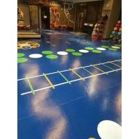 辽宁天韵塑胶地板批发健身房私教区3D打印塑胶地板