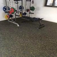 力量区健身房橡胶地板 橡胶健身房地板