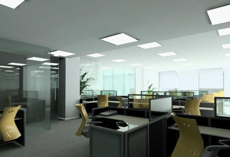 重庆办公室净化侧发光面板灯定制批发承接施工安装