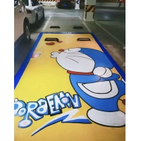 哈尔滨车位涂鸦、彩绘
