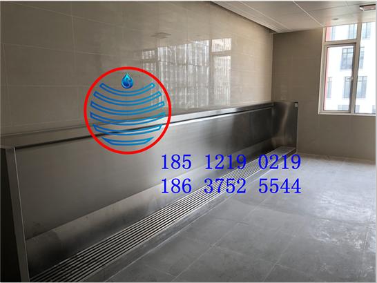 杭州学校卫生间不锈钢小便槽池洗手台盆订做厂家安装