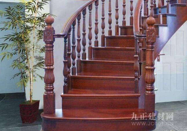 楼梯木扶手安装效果图5