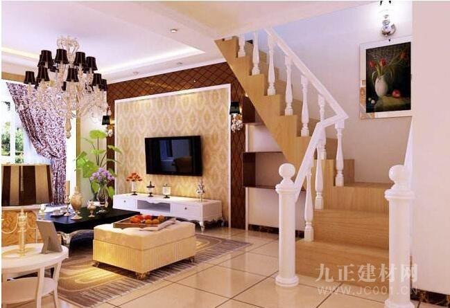 带楼梯的客厅效果图2