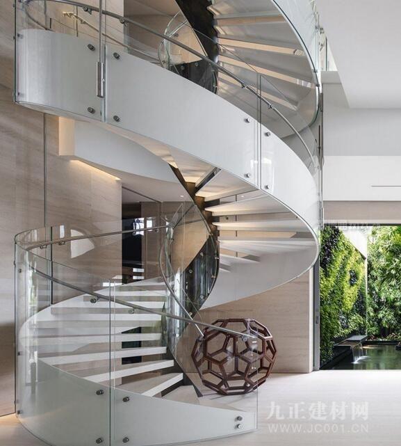 别墅旋转楼梯设计效果图2