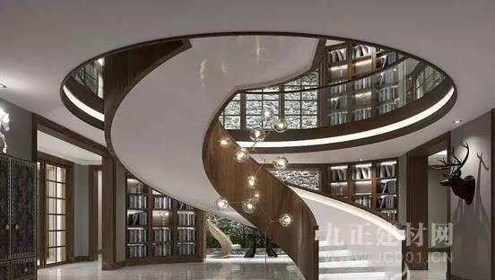 别墅旋转楼梯设计效果图3