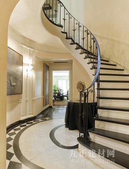 别墅旋转楼梯设计效果图6