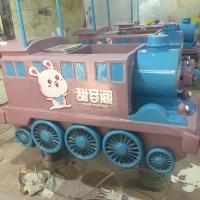 尚雕坊制作商场广场户外玻璃钢餐车雕塑火车摆件售卖车可移动定制