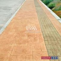水泥压膜,彩砖木地板花岗岩石材可以用图案模板压出来