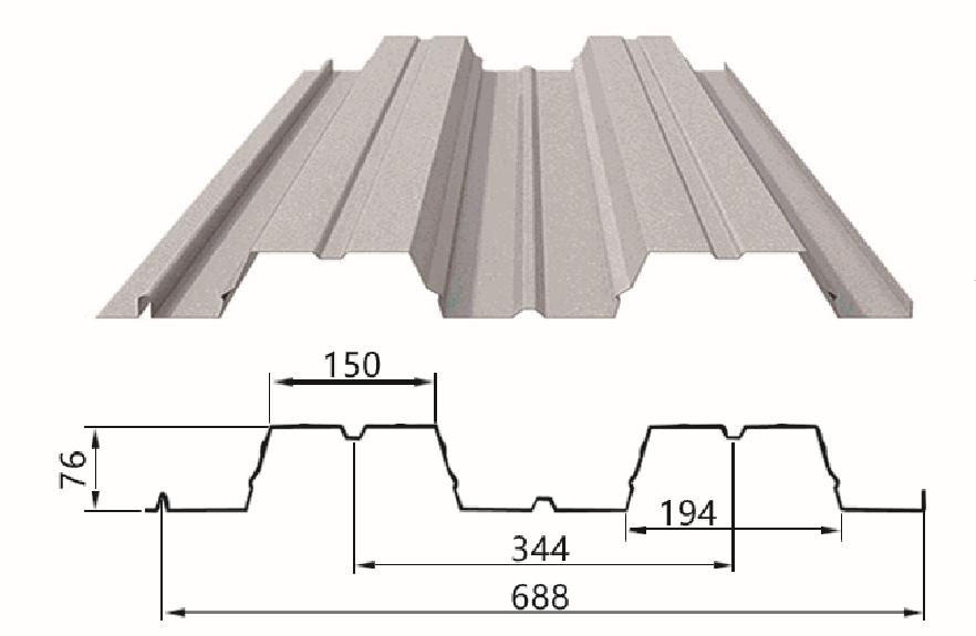 688型楼承板安装,免费提供楼承板检验报告和报价单