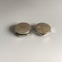 黄铜镀镍圆形金属闷盖外螺纹金属堵头