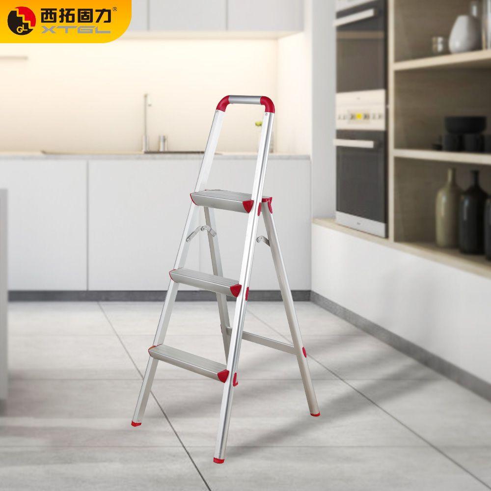 GL-605 亚光铝合金扶手家用梯