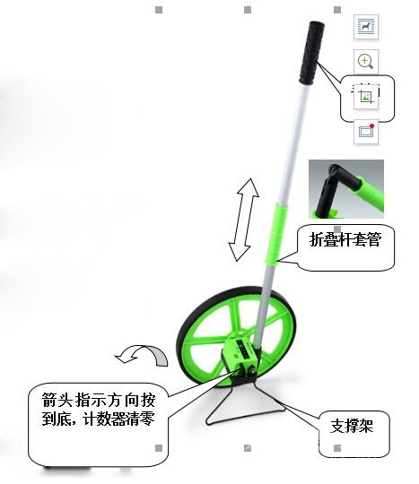 牌照螺丝粘测量轮怎么用?测量轮的用途