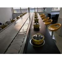 快餐火锅餐桌供应不锈钢月牙型输送带旋转火锅设备 回转火锅餐桌