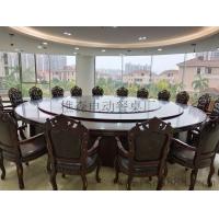来图生产酒店专用餐桌 电动大圆桌 喷泉音乐电动桌 智能电动餐