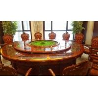 新款电动餐桌供应 电动火锅桌 宴会椭圆电动餐桌 自动转盘餐桌