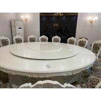直销全国不锈钢转盘餐桌 电动椭圆桌 酒店实木电动餐桌