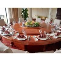 转动火锅餐桌 自动圆形餐桌 钢架酒店餐桌餐椅