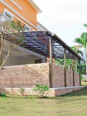 铝合金雨棚 露台遮阳雨棚 家庭阳台雨棚 门窗耐力板雨棚 设计