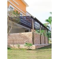 鋁合金雨棚 露臺遮陽雨棚 家庭陽臺雨棚 門窗耐力板雨棚 設計