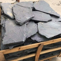 工厂自产自销板岩乱形青石板 碎拼文化石 不规则石板 外墙乱形