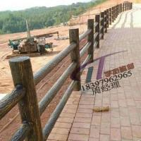 水泥护栏仿树皮3d型