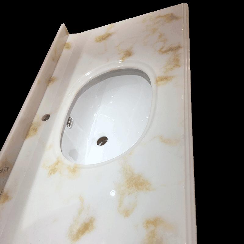 浴室柜台面-松香汉白玉 人造石(过油)