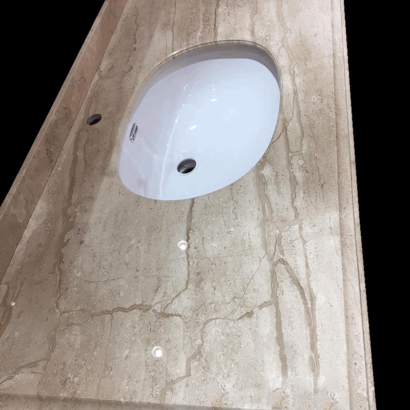 浴室柜台面-天然意大利木纹