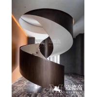 酒店旋转楼梯/样板房旋转楼梯/钢结构大型楼梯