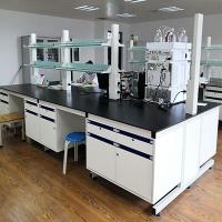 实验室工作台化验室操作台全钢实验台钢木边台中央台化学试验桌柜