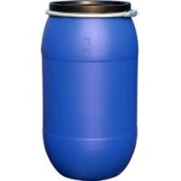 200升化工塑料桶200公斤抱箍塑料桶200L蓝色化工桶