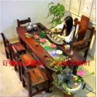老船木茶几老船木茶台中式原木喝茶桌船木沙发