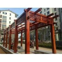 西安防腐木廊架,实木廊架,景观廊架,仿古廊架