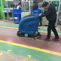泰州洗地機工廠手推式L520B工業電瓶式洗地機車間電動拖地機
